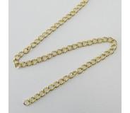 Catena allungamento in acciaio dorato 2,9 mm