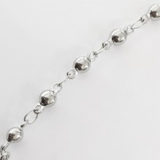 Catena a pallini rosario in acciaio