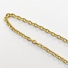 Catena forzatina in acciaio dorato 2,0 mm