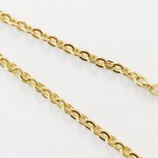 Catena forzatina in acciaio dorato 2,4 mm