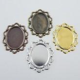 Castone ovale c/cornice 25 x 18 mm