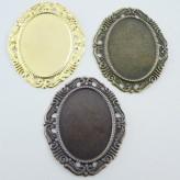 Castone ovale c/cornice 40 x 30 mm