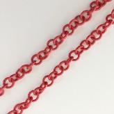 Catena zigrinata  8 mm - [Rosso]
