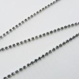 Catena strass PP14 [Rodio/Black Diamond]