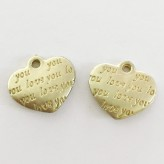"""Charm a cuore """"love you"""" (4 pz.)"""
