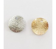 Charm medaglietta diamantata (6 pz)