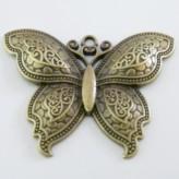Charm Farfalla Grande ottone