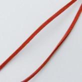 Fettuccia alcantara 3mm [Rosso] - 1mt