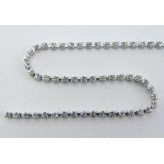 Catena strass PP14 [Rodio/Crystal]