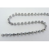 Catena strass PP24 [Rodio/Crystal]