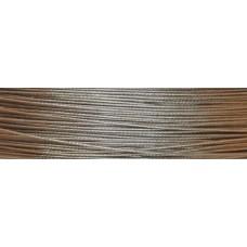 Cavetto d'acciaio 0,60 mm - 40 m [Acciaio naturale]