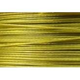 Cavetto d'acciaio Ø 0,45 - 10mt - Oro Verde