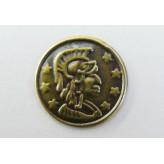 Charm Moneta Elmo 15 mm (10 pz.)