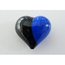 Cuore Murano Nero/Azzurro
