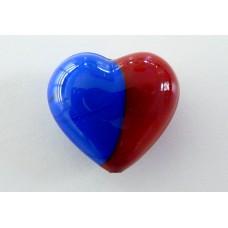Cuore Murano Rosso/Blu