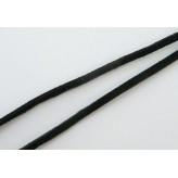 Fettuccia alcantara 3mm [Nero] - 1mt