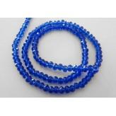 Filo cristalli briolette 4mm [Blue]