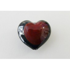 Perla Murano Cuore [Rosso/Nero]