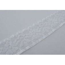 Pizzo elastico 3 cm [Bianco]