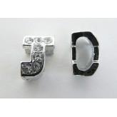 Sep. metallico lettera J (foro largo)